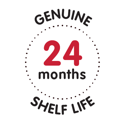 genuine 24 months shelf life